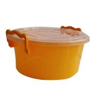 Cutie Ella pentru alimente, plastic, rotunda, portocaliu, cu maner, 2 L