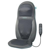Husa de scaun cu masaj Shiatsu, pentru gat, spate si umeri, HoMedics SGM-1600H-EU, 6 programe, functie caldura, telecomanda, gri