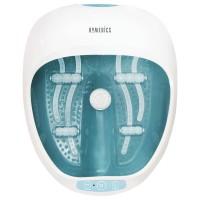 Aparat de hidromasaj pentru picioare, HoMedics FS-250-EU, functie incalzire, 4 role de masaj detasabile, alb + albastru