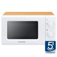 Cuptor cu microunde Daewoo KOR-6S20WO, 20 l, 700 W, 7 nivele de putere, control mecanic, alb + portocaliu