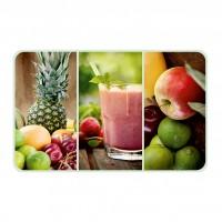 Suport bucatarie, pentru farfurii, Fruit Smoothies, din PVC, 25 x 40 cm