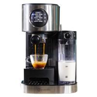Espressor cafea Studio Casa Barista Latte SC509, cafea macinata, 15 bar, 1470 W, capacitate rezervor apa 1.2 litri, rezervor lapte inclus, capacitate rezervor lapte 0.7 litri, functie de memorare a cantitatii selectate, argintiu + negru