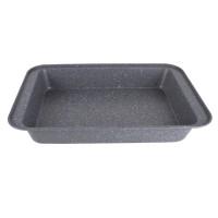 Tava pentru cuptor, din aluminiu presat, Granite  Line, gri, 37.5 x 25 x 5 cm