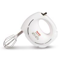 Mixer de mana Tefal EasyMax HT2501B1, 200 W, 5 trepte de viteza, alb + gri, teluri plastic + teluri otel inoxidabil