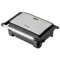 Gratar electric Rohnson R2103, 800 W, placi tip grill antiaderente, indicatori led, sistem de protectie impotriva supraincalzirii, negru + argintiu
