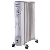 Radiator electric Paxton RE-11-2500Y / YL-B26-11, 3 trepte, 2500 W, 580 x 125 x 486 mm, 11 elementi, termostat reglabil