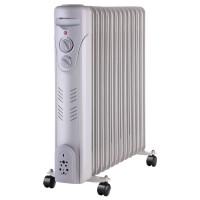 Radiator electric Paxton RE-13-2500Y / YL-B26-13, 3 trepte, 2500 W, 580 x 125 x 564 mm, 13 elementi, termostat reglabil