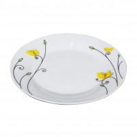 Set farfurii EY3310, portelan, model floral, 18 piese