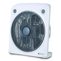 Ventilator de podea Rohnson R820, 50 W, 3 viteze, diametru 30 cm, timer, functie de rotire, alb