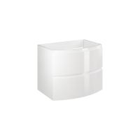 Masca baie pentru lavoar, Savini Due Armonia 70, cu sertare, alba, 70 x 49 x 56 cm