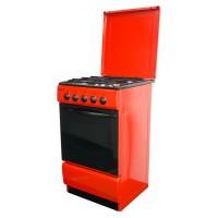 Aragaz pe gaz Metalica F4 1685 S5, 4 arzatoare, latime 50 cm, dispozitiv siguranta arzatoare si cuptor, rosu
