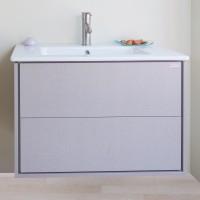Masca baie pentru lavoar, Arthema Push 207PU-C3, cu sertare, crem perlat, montaj suspendat, 69 x 45 x 54 cm
