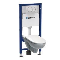 Pachet rezervor apa, incastrat, Geberit Delta 20 Duofix, 53.5  x 114 cm, clapeta de actionare, vas WC, capac toaleta