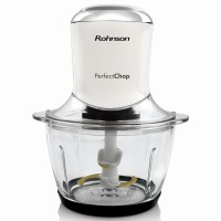 Tocator Rohnson R515, 500 W, 1 treapta de viteza, 1.2 l, bol din sticla, 4 cutite din titan, alb
