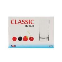 Pahar suc, Classic, din sticla, 280 ml, set 6 bucati