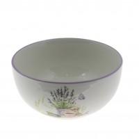Bol pentru servirea mesei HC141R-S08, ceramica, model lavanda, 13.5 x 6.5 cm
