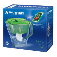 Cana de filtrare apa Barrier Prime 108-V, verde, 4.2 litri