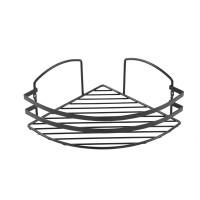 Etajera baie de colt, neagra, LM007.04, 24 x 24 x 17 cm