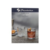 Pahar whisky, din sticla, Timeless 52810, 205 ml, set 4 bucati
