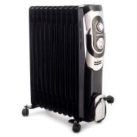 Radiator electric Daewoo DOH11, 3 trepte, 2500 W, 660 x 162 x 540 mm, 11 elementi, termostat reglabil, 5 canale de ulei