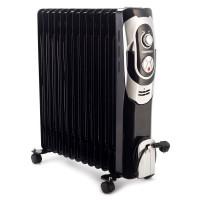Radiator electric Daewoo DOH13, 3 trepte, 2500 W, 660 x 162 x 610 mm, 13 elementi, termostat reglabil, 5 canale de ulei