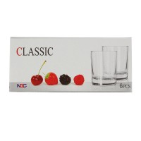 Pahar apa, Classic PCL210EN, din sticla, 210 ml, set 6 bucati
