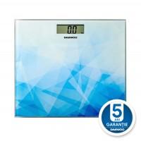 Cantar electronic pentru baie, Daewoo DBS210AB, sticla securizata, display LCD, 150 kg, auto zero, oprire automata, indicator suprasarcina