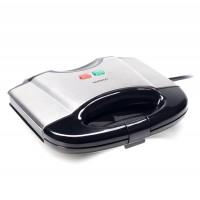 Aparat de preparat wafe Daewoo DWM20X, 800 W, placi neaderente, indicatori luminosi, termostat, maner Cool Touch, clapeta blocare, gri + negru