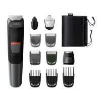 Trimmer pentru barba, par si corp Philips MG5730/15, 7 piepteni detasabili, cap metalic pentru detalii, cap de ras de precizie, cap de tuns parul din nas si urechi, tehnologie DualCut, alimentare acumulator, negru, husa