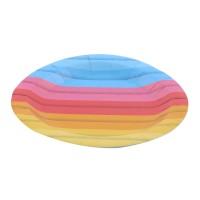 Farfurii rotunde Curcubeu, carton, D 20 cm, set 10 bucati