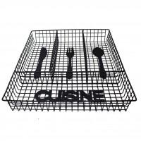 Suport tacamuri pentru sertar, Cuisine D2724, metal negru, 32.5 x 26 x 5 cm