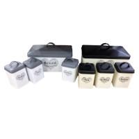 Recipiente pentru bucatarie, D2600, metal, diverse modele si culori, set 4 bucati