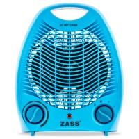 Aeroterma electrica Zass ZFH 02 C, 2 trepte, 2 kW, 220 x 140 x 270 mm, termostat reglabil, albastra