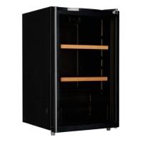 Racitor pentru vin Studio Casa SCW42, 2 rafturi din lemn + metal, 113 litri, capacitate 42 sticle, iluminare Led, usa reversibila, negru, 84.7 x 50.5 x 54.5 cm