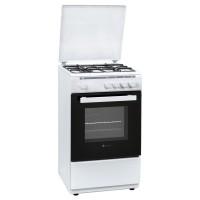Aragaz pe gaz Studio Casa Mia Arno 50/50WH, 4 arzatoare, dispozitiv siguranta arzatoare si cuptor, latime 50 cm, alb