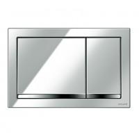 Placa actionare apa WC, Cersanit Enter K97-366, finisaj cromat lucios