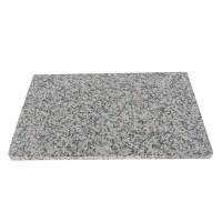 Tocator din granit, alb / gri, 40 x 25 x 2 cm