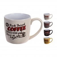 Cana cafea, ceramica, Koopman Q80000050, diverse modele, 330 ml