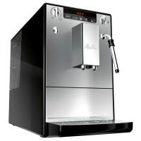 Espressor cafea Melitta Caffeo Solo & Milk E953-102, cafea boabe, 15 bar, 1400 W, capacitate 1.2 l, sistem de pre-infuzare AES, sistem de spumare a laptelui, 3 setari de intensitate, argintiu + negru