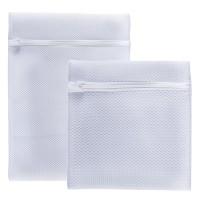 Saculet pentru spalare rufe delicate in masina de spalat, Meliconi 656150, set 2 bucati, 25 x 30 cm + 30 x 40 cm, nylon, alb