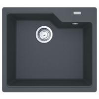 Chiuveta bucatarie compozit fragranite Franke UBG 610-56 grafite neagra patrata 56 x 50 cm