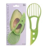 Feliator pentru avocado CY4653150, plastic, verde, 18 cm