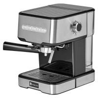 Espressor cafea Studio Casa Mio SC 2001, cafea macinata, 15 bar, 850 W, capacitate 1.2 l, buton intensitate abur, functie oprire automata, functie personalizare cafea, argintiu