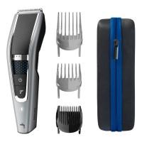 Aparat de tuns Philips HC5650/15, 3 piepteni detasabili, lame otel inoxidabil, alimentare acumulator / retea, 28 setari pentru lungime, 0.5 - 28 mm, tehnologie Trim-n-Flow Pro, functie Turbo, gri