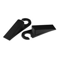Opritor pentru usa, Fackelmann 61440, plastic, negru, 22.3 cm, set 2 bucati