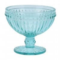 Cupa pentru inghetata, sticla, turcoaz, 300 ml