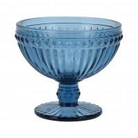 Cupa pentru inghetata, sticla, albastru, 300 ml