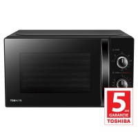 Cuptor cu microunde Toshiba MW-MG20PBK, 20 l, 800 W, 6 nivele de putere, control mecanic, grill, functie decongelare, timer, negru