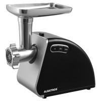 Masina de tocat carne, electrica, Albatros MTA1510B, functie Reverse, 1.8 kg/min, 1500 W, neagra, accesoriu suc rosii