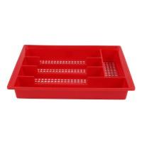 Suport tacamuri pentru sertar, 95008, plastic, rosu, 33.5 x 26 x 5 cm